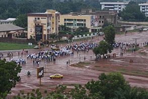 """A """"Béke menete"""" Banguiban (Forrás: eeas.europa.eu)"""
