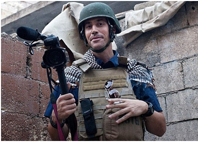 James Wright Foley munka közben (Forrás:telegraph.co.uk)