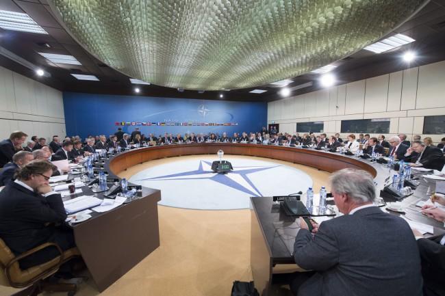 A NATO külügyminisztereinek találkozója. (Forrás: nato.int.)