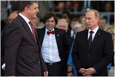 Vlagyimir Putyin és Petro Poroshenko (Forrás: rbth.com)