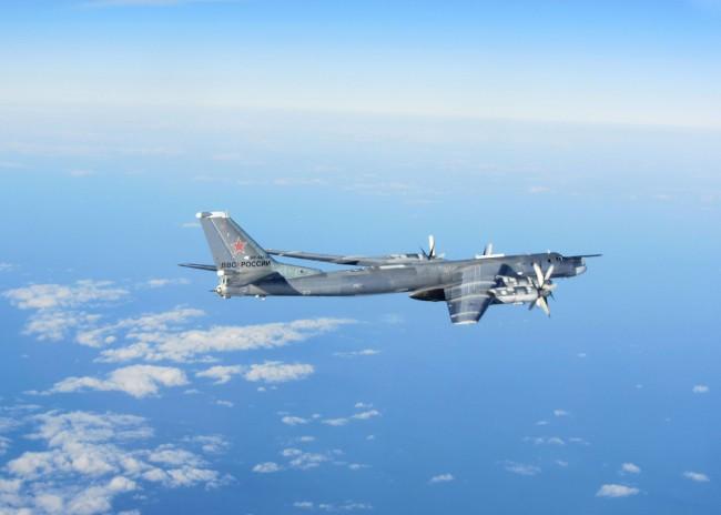 Az október 29-én bevetett egyik Tu-95 Bear H stratégiai bombázó. (Forrás: aco.nato.int)