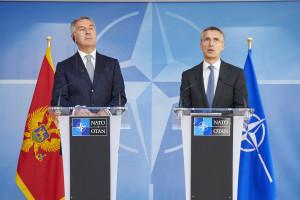 NATO Secretary General Jens Stoltenberg and Prime Minister of Montenegro Milo Djukanovic