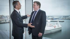 NATO Secretary General Jens Stoltenberg with the Prime Minister of Iceland Sigmundur David Gunnlaugsson