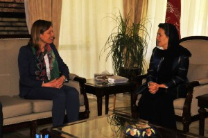 Ambassador Marriet Schuurman, NATO Secretary General's Special Representative for Women, Peace and Security, and Afghan First Lady Rula Ghani.