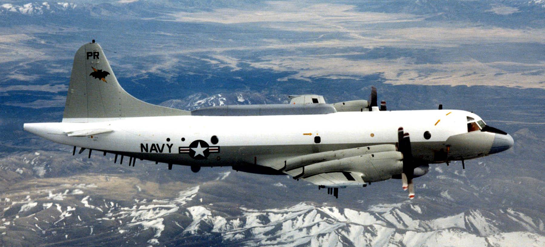 Lockheed EP-3 elektronikai felderítő repülőgép. (A kép forrása: http://fly.historicwings.com/wp-content/uploads/2013/04/HighFlight-HainanIncident4.jpg)