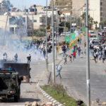 Zavargás Ramallah városában. (Forrás: http://www.worldbulletin.net)