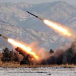 Észak-koreai hadgyakorlat (A kép forrása: Guardian)