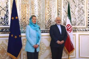 Federica Mogherini és Javad Zarif, Irán külügyminisztere. (A kép forrása: European Union External Action Service Facebook)
